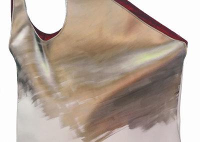 BIGBAG Large - artificial leather dipinta a mano